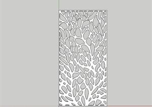 某详细的金属镂空装饰板设计SU(草图大师)模型