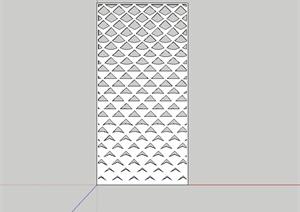 现代风格室内镂空装饰板设计SU(草图大师)模型