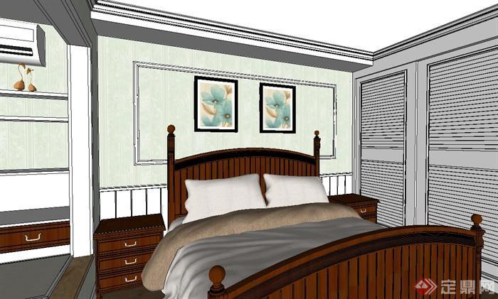 现代风格详细完整的室内空间设计su模型(2)