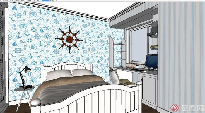 现代风格详细完整的室内空间设计su模型(3)