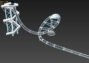游樂場游樂設施設計3d模型