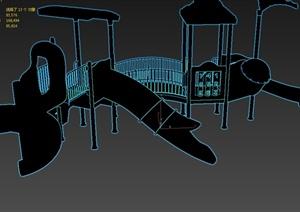 某小區游樂設施設計3d模型