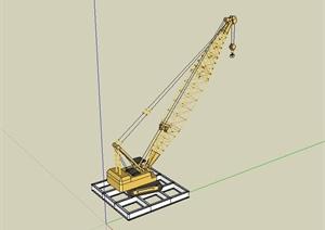 工程施工吊车设计SU(草图大师)模型