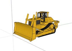 工程施工推土机设计SU(草图大师)模型