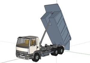 工程施工货车设计SU(草图大师)模型