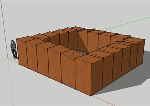 某現代風格建筑懸魂梯設計SU(草圖大師)模型