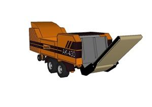 工程施工装载车详细设计SU(草图大师)模型