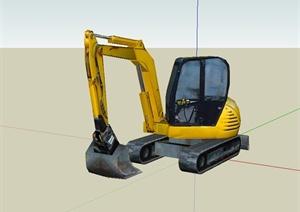 工程施工挖掘机设计SU(草图大师)模型