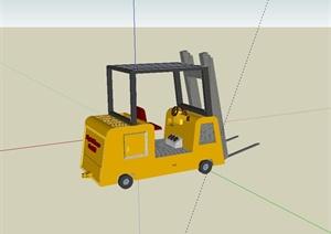 工程施工叉车设计SU(草图大师)模型