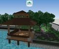 庭院景觀,庭院花園,涼亭