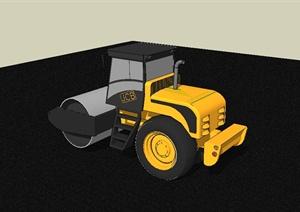 工程施工压路机设计SU(草图大师)模型