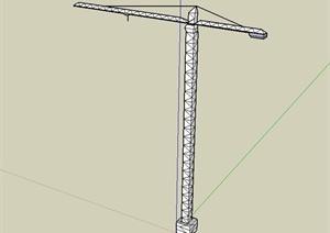 工程施工塔吊设计SU(草图大师)模型