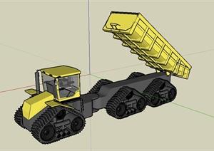 工程施工货车详细设计SU(草图大师)模型