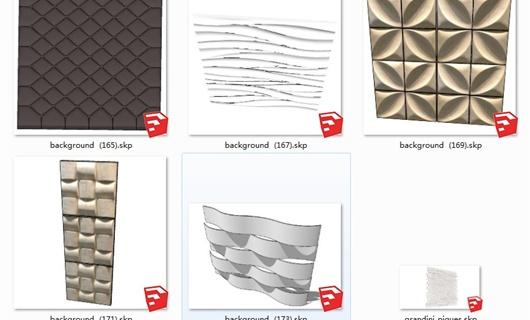 个性化背景/墙面修饰su模型3D(2015及以上版本可用)