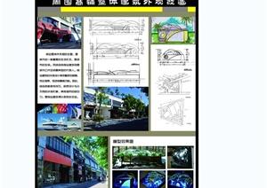 某现代风格详细的毕业设计酒吧街及商业街设计psd展板
