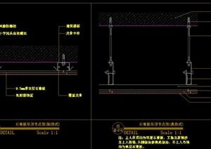室内装修吊顶、墙面、门工、地平工艺详图